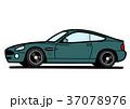 ブリティッシュクーペ グリーン系 自動車イラスト 37078976