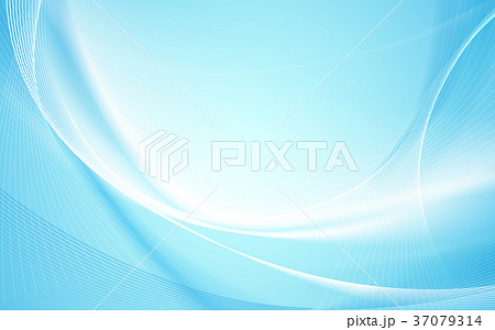 Abstract blue wavy with blurred light background 37079314