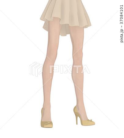 ポーズする女性 ファッション perming2DCG イラスト素材 37084101