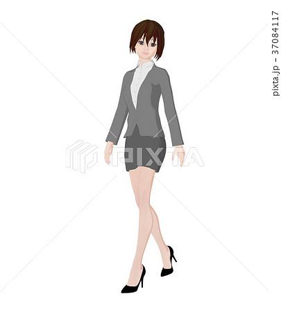 ビジネススーツの女性 perming 2DCGイラスト素材 37084117