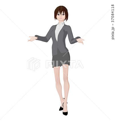 ビジネススーツの女性 perming 2DCGイラスト素材 37084118