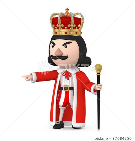 王様 キング キャラクター07のイラスト素材 37084250 Pixta
