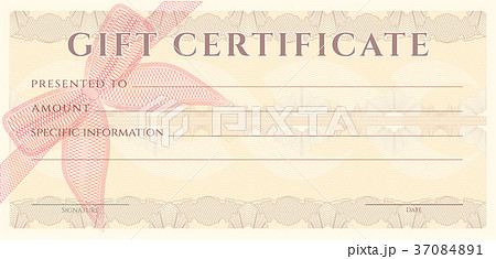 voucher gift certificate coupon ticket templateのイラスト素材