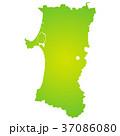 秋田県地図 37086080