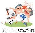 人物 サッカー 練習のイラスト 37087443