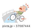 自転車 用水路 転落のイラスト 37087444