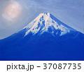 油絵富士吉田からの富士山 37087735
