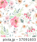 Seamless summer pattern with watercolor flowers 37091603