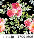 Seamless summer pattern with watercolor flowers 37091606