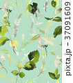 Seamless summer pattern with watercolor flowers 37091609
