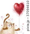 赤色 愛 LOVEのイラスト 37094610