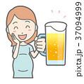 ベクター 妊婦 ビールのイラスト 37094999