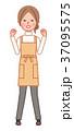 ガッツポーズをする女性 37095575