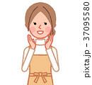 女性 主婦 呼ぶのイラスト 37095580