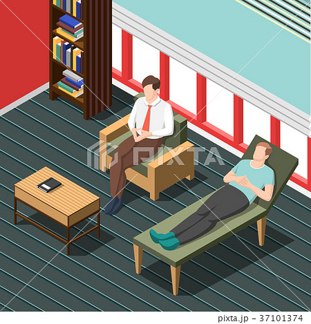 Psychotherapy Counseling Isometric Background 37101374