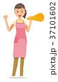 ベクター 女性 ホームヘルパーのイラスト 37101602