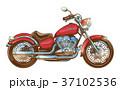 単車 ヴィンテージ チョッパーのイラスト 37102536