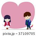 カップル 恋人 愛のイラスト 37109705