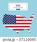USA Map Flag Vector Illustration 37110095