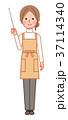 指示棒を持つ笑顔の女性 37114340