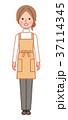 女性 主婦 エプロンのイラスト 37114345