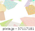 コラージュ フレーム 背景素材のイラスト 37117181