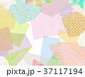 紙 コラージュ 背景素材 37117194