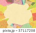 コラージュ フレーム 背景素材のイラスト 37117208