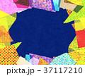コラージュ フレーム 背景素材のイラスト 37117210