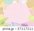 コラージュ フレーム 背景素材のイラスト 37117211
