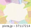 コラージュ フレーム 背景素材のイラスト 37117214