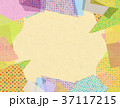 コラージュ フレーム 背景素材のイラスト 37117215