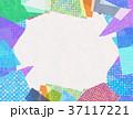 コラージュ フレーム 背景素材のイラスト 37117221