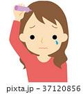 ヘアケアをする女性 37120856