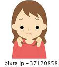 髪の毛に不満を持つ女性 37120858