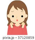 髪の毛に不満を持つ女性 37120859