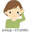 髪の毛に不満を持つ女性 37120881