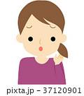 女性 髪 人物のイラスト 37120901