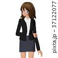 女性 ビジネススーツ ポーズのイラスト 37122077