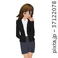 女性 ビジネススーツ ポーズのイラスト 37122078