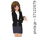 女性 ビジネススーツ ポーズのイラスト 37122079