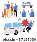 事故にあう 高齢者 イラスト セット 37128060