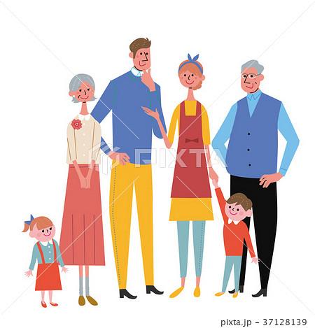 家族 イラスト 三世代 37128139