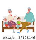 ソファに座る シニア 夫婦 イラスト 37128146