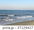 稲毛海岸の白い波と青い海 37129427