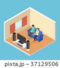 部屋 ゲーム ベクトルのイラスト 37129506