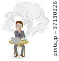 喫煙リスク ビジネスマン キャラクター 37130226