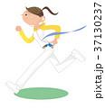 若い女性 ジョギング ランニングのイラスト 37130237