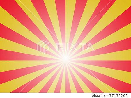 放射線の背景(赤金) 37132205