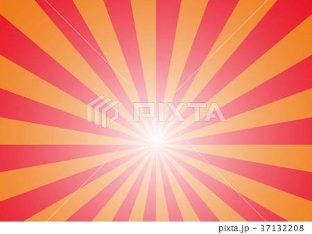 放射線の背景(赤オレンジ) 37132208
